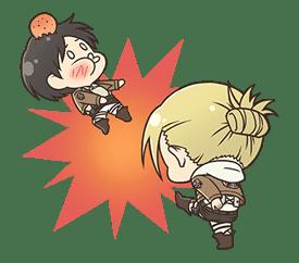 Attack on Titan Chimi-Chara Ver. sticker #47032