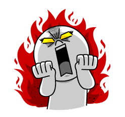 LINE Characters: Burning Emotion sticker #1317054