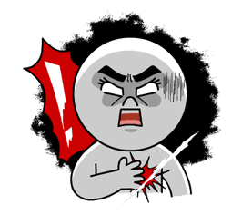 LINE Characters: Burning Emotion sticker #1317065