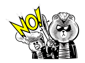 LINE Characters: Hamming It Up sticker #5607188