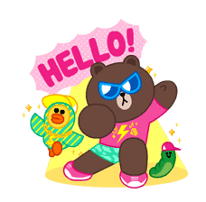 LINE Characters: Party Time sticker #6829296