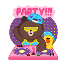 LINE Characters: Party Time sticker #6829304