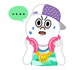 LINE Characters: Party Time sticker #6829307