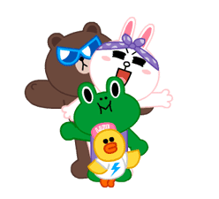 LINE Characters: Party Time sticker #6829316