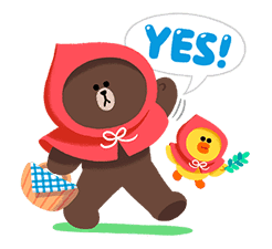 LINE Friends: Fairy Tales sticker #7670736