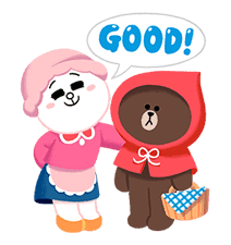 LINE Friends: Fairy Tales sticker #7670743