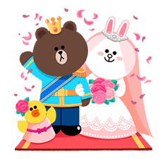 LINE Friends: Fairy Tales sticker #7670754