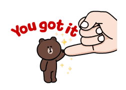 Brown and Cony Fun Size Pack sticker #11088023