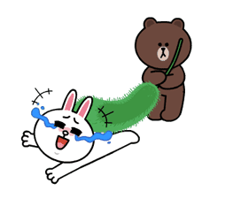 Brown and Cony Fun Size Pack sticker #11088037