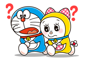 Doraemon & Dorami sticker #14644