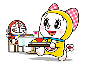 Doraemon & Dorami sticker #14653