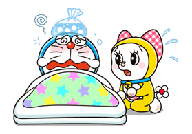 Doraemon & Dorami sticker #14668