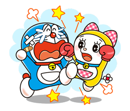 Doraemon & Dorami sticker #14673