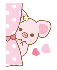 Piggy girl sticker #25178