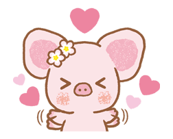 Piggy girl sticker #25179