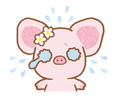 Piggy girl sticker #25180