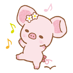 Piggy girl sticker #25181