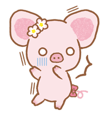Piggy girl sticker #25182