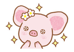 Piggy girl sticker #25183