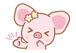 Piggy girl sticker #25184