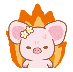 Piggy girl sticker #25185