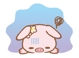 Piggy girl sticker #25187