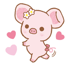 Piggy girl sticker #25188