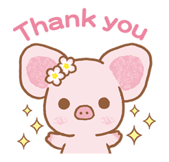 Piggy girl sticker #25190