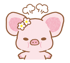 Piggy girl sticker #25192