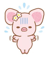 Piggy girl sticker #25194