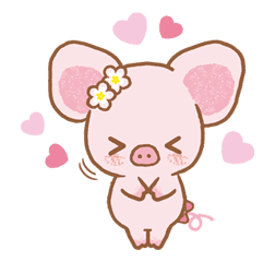 Piggy girl sticker #25195