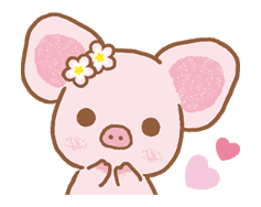 Piggy girl sticker #25197