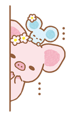 Piggy girl sticker #25198
