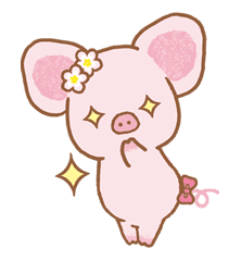 Piggy girl sticker #25199