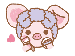Piggy girl sticker #25202