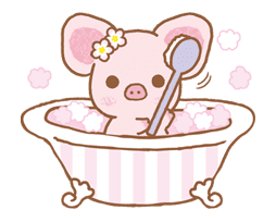Piggy girl sticker #25203