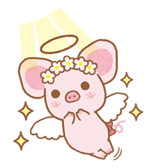 Piggy girl sticker #25205