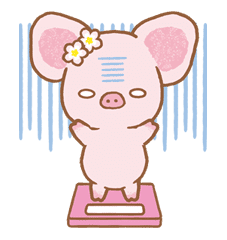 Piggy girl sticker #25207