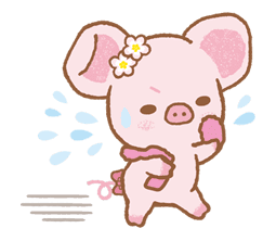 Piggy girl sticker #25208