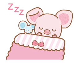 Piggy girl sticker #25209