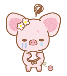 Piggy girl sticker #25210