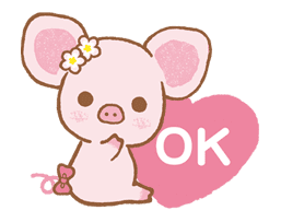 Piggy girl sticker #25211