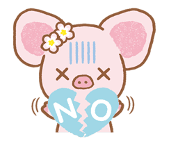 Piggy girl sticker #25212