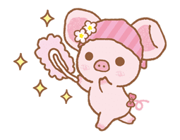 Piggy girl sticker #25216