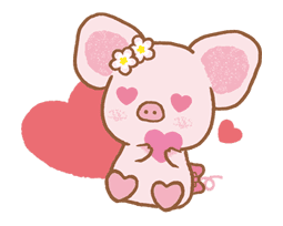 Piggy girl sticker #25217