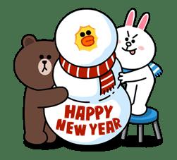 Brown & Cony's Cozy Winter Date sticker #27332