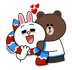 Brown & Cony's Cozy Winter Date sticker #27333