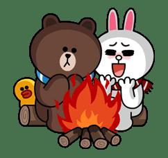Brown & Cony's Cozy Winter Date sticker #27335