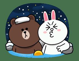 Brown & Cony's Cozy Winter Date sticker #27336