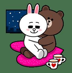 Brown & Cony's Cozy Winter Date sticker #27339